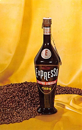 Expresso Coffee Liqueur Advertising Postcard