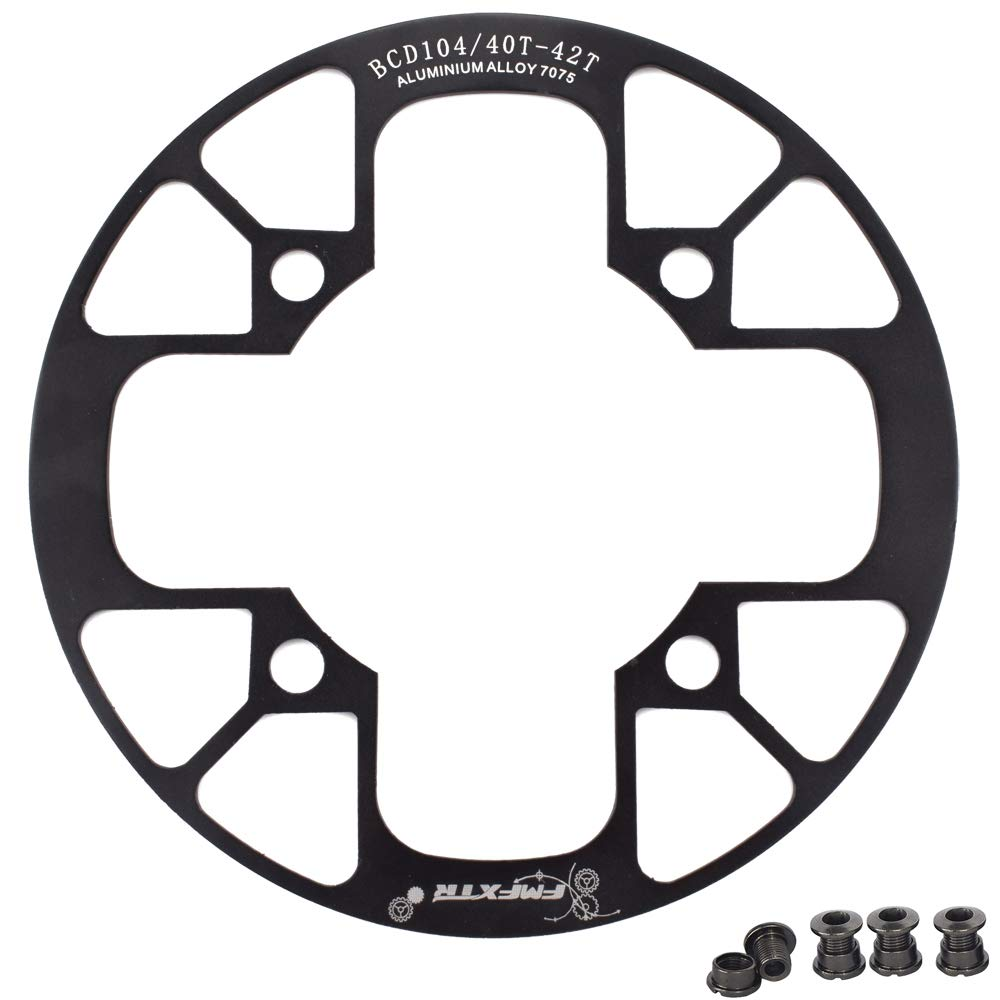 UPANBIKE Montain Bike Chainring Guard 104 BCD Aluminum Alloy Chain Ring Protector Cover for 32~34T 36~38T 40~42T Chainring Sprockets (Black, 40T~42T) by UPANBIKE