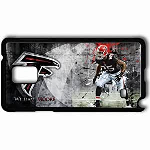 Personalized Samsung Note 4 Cell phone Case/Cover Skin 14564 falcons wp 43 sm Black