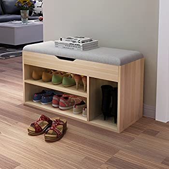Amazon.com: Soges Storage Bench Storage Hall Shoe Rack ...