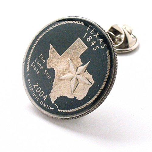 Texas Tie Tack Lapel Pin Suit Flag State Coin Jewelry USA United States America Lone Star Cowboy Houston San Antonio Dallas Austin