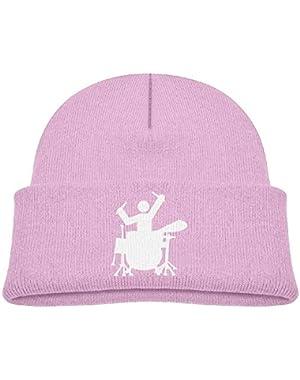 Fashion Drummer Printed Newborn Baby Winter Hat Beanie
