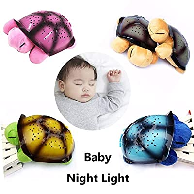 Baby Toddler Toys Led Night Light Star Projector with Novelty Sky MusicTurtle Lamp Baby Toy for Children(Blue) Baby Items (Color : Pink) : Baby