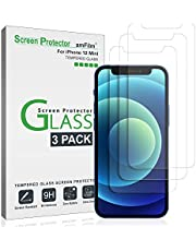 amFilm (3 Pack) iPhone 12 Mini Screen Protector Glass Film (2020) - Case Friendly (Easy Install) Tempered Glass Screen Protector for iPhone 12 Mini (5.4 Inch)