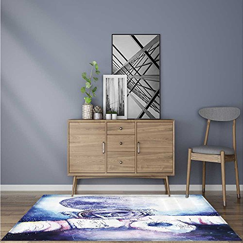 Foldable Thicken Rug Kull ce Bfire Effect Spirits