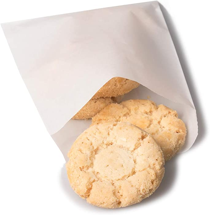 BagDream Glassine Waxed Paper Bags 4.72x6.75 Inches Pack of 100 Flat Glassine Bags Glassine Envelopes, Cookie Bags, Popcorn Bags