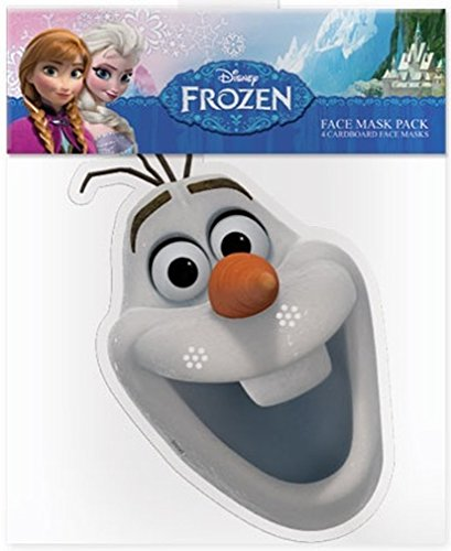 [Official Disney Olaf The Snowman from Frozen Card Face Mask] (Costume De Kristoff Frozen)