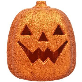 LED Glittery Orange Plastic Pumpkins Autumn Fall Thanksgiving Harvest Pumpkin Decorations (Doc Mcstuffins Dragon Costume)