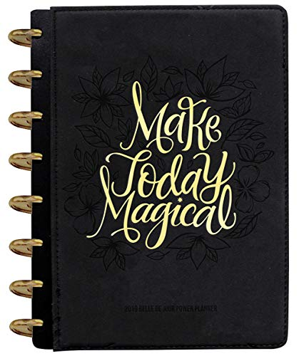 Belle de Jour Power Planner 2019 for Goal and Life - Weekly, Monthly and Yearly Planner - Calendar + Organizer - International Edition - Black & Gold (Disc-Bound)