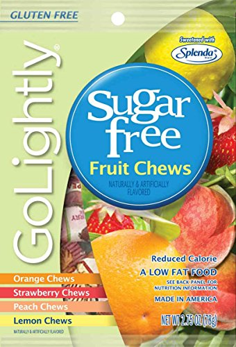 Go Lightly Fruit Chews Sugar Free Hard Candy, 2.75 Ounce (Pack of 12)