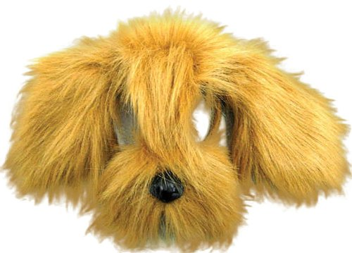 Children's Dog Costumes Uk (Brown Children's Shaggy Dog Mask With Sound)