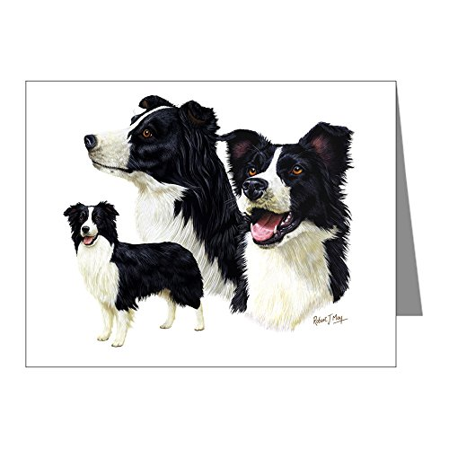 CafePress - Border Collie Multi - Blank Note Cards (Pack of 20) Glossy ()