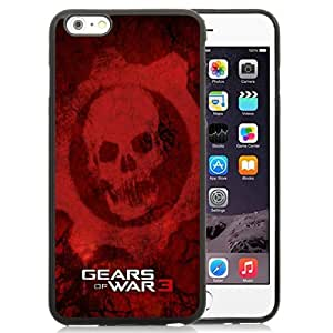Great Quality iPhone 6 Plus 5.5 Inch TPU Case ,Beautiful And Unique Designed Case With Gears Of War 3 Games Red Black iPhone 6 Plus Cover Phone Case
