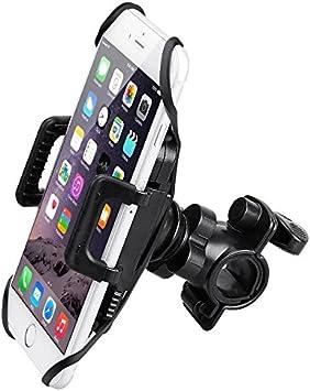 MMOBIEL Soporte Movil Bicicleta Motocicleta (Soporte Manillar) Agarre Seguro del Smartphone: Clip Goma y Correa Silicón: Amazon.es: Electrónica