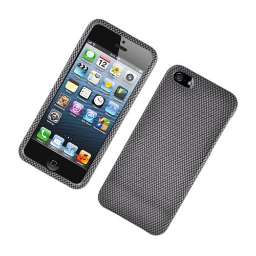 Eagle Cell PIIPHONE5G127 Stylish Hard Snap-On Protective Case for iPhone 5 - Retail Packaging - Carbon Fiber (Carbon Fiber Faceplate Protector)