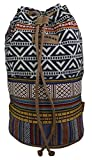 Unionbay Girls Women's Hippie Bohemian Style Elephant Aztec Boho Tribal Bucket Bag Backpack (Multi-Tribal)