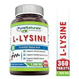Pure Naturals L-Lysine 1000 Mg, 360 Tablets -Supports Calcium Absorption -Supports Healthy Connective Tissues -Supports Health Immune System