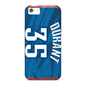 InesWeldon Iphone 5c Protective Hard Phone Cases Support Personal Customs HD Oklahoma City Thunder Series [VYB18297DKgi]