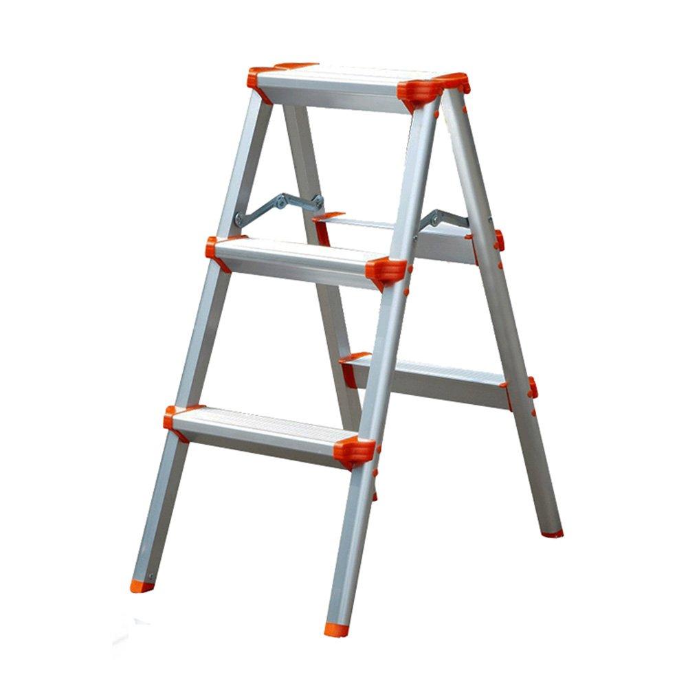 LXLA- 1,2,3,4,5ステップのはしごのスツールの手すりの家庭用アルミニウム合金の足場の厚いポータブルはさみのはしごホーム、ワークショップ、ガレージ (色 : Orange, サイズ さいず : 3-Step) B07FSC38XR 3-Step|Orange Orange 3-Step