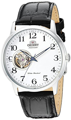 - Orient Men's '2nd Generation Esteem' Japanese Automatic Stainless Steel and Leather Dress Watch, Color:Black (Model: RA-AG0009S10A)