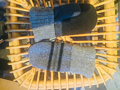 Handmade Recycled Sweater and Babydoll Wool Mittens