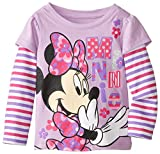 Disney Girls' Minnie Mouse Stripe Long-Sleeve Skater T-Shirt