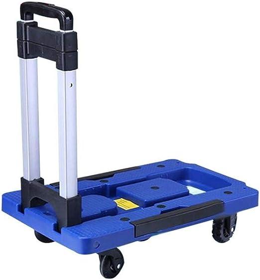 LQQFFGarden Trolley Luggage cart Folding Shopping cart Home Portable Trolley Transport Trolley