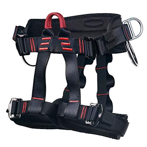 MelkTemn Climbing Harness, Rock Climbing Harness Protect Waist Safety Harness, Wider Half Body Harness for Mountaineering Fire Rescuing Rock Climbing Rappelling Tree Climbing ()