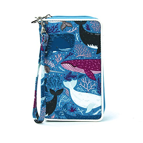 Sea Of Whales Wallet/Wristlet In Nylon