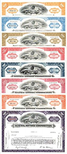 general-motors-corporation-collection-of-8-stocks