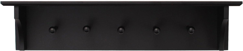 "kieragrace Traditional floating-shelves, 24"" by 5.5"", Black"