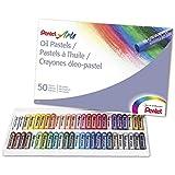 Pentel Arts PHN-50 Crayones de óleo pasteles, juego con 50 colores