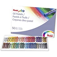 Pentel Arts Oil Pastels 50 Color Set (PHN-50)