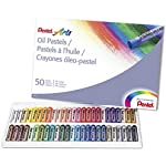 Pentel Arts Oil Pastels, 50 Color Set (PHN-50)