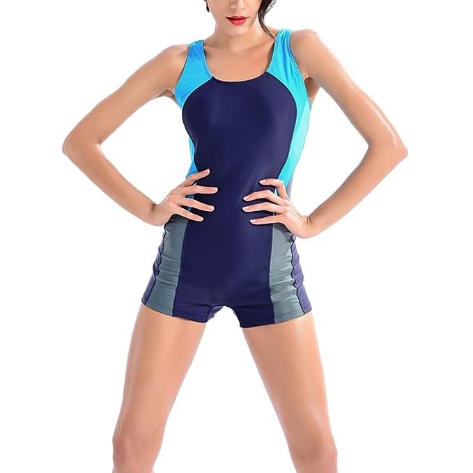 44749d82ae59 Bañador con Las Piernas Traje de Baño de Una Pieza Para Mujer -Bañador  bañador deportivo, traje de baño, traje de baño para mujer de una sola  pieza ...