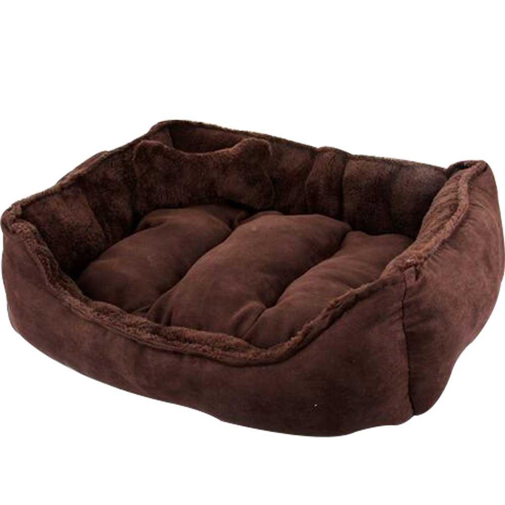 WYSBAOSHU Warm Soft Pet Nest Heavy Duty Overstuffed Pet Beds for Cats & Dogs (L:6050cm, Brown)