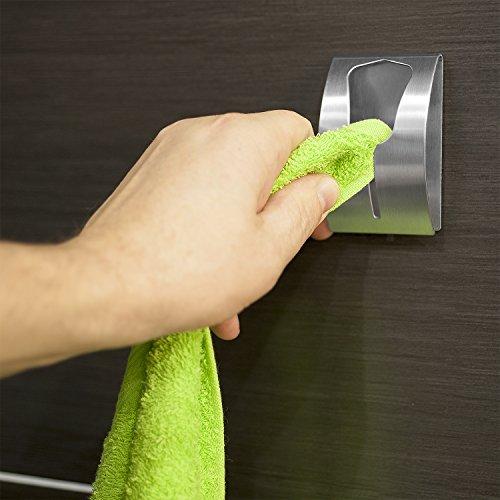 Tatkraft Ida Strong Self Adhesive Towel Holder Stainless Steel