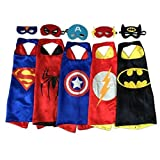 RioRand Comics Cartoon Hero Dress Up Satin Cape with Felt Mask Costume