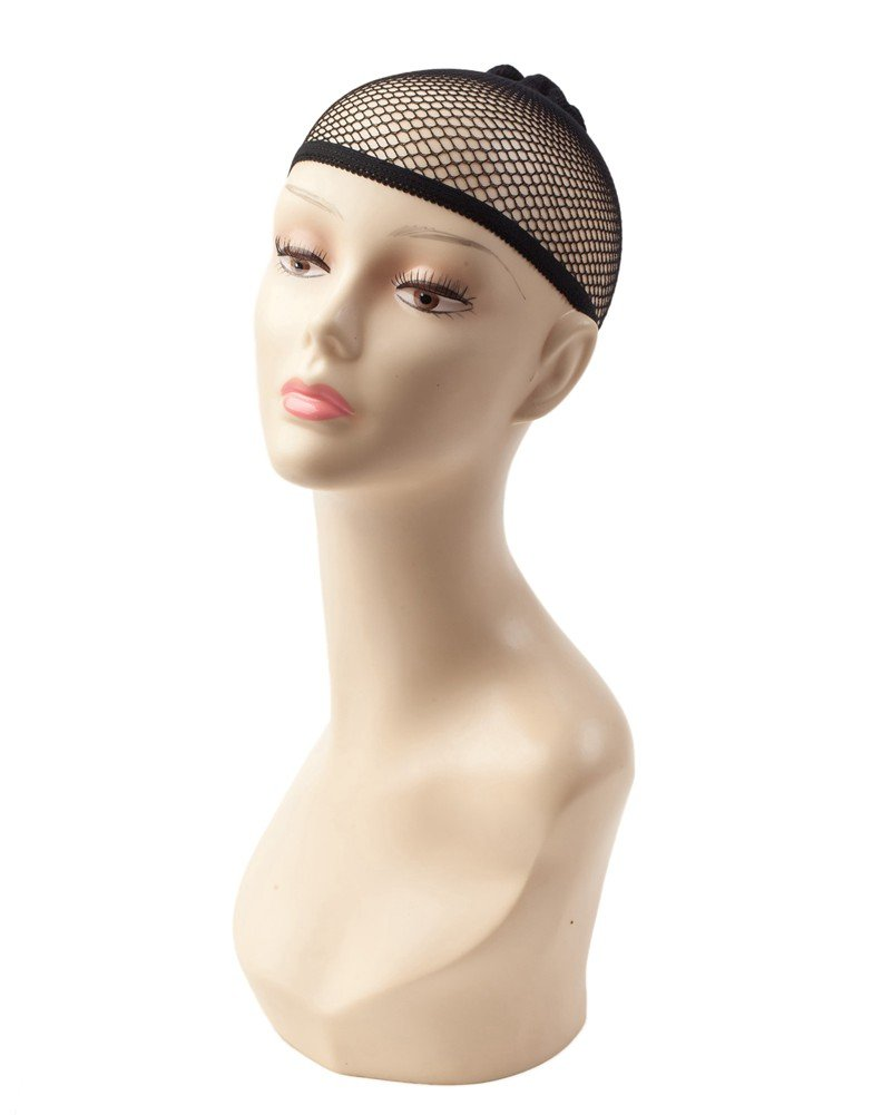 High Quality Stretchable Breathable Elastic Hair Fishnet / Net Wig Cap In Black Colour By VAGA®