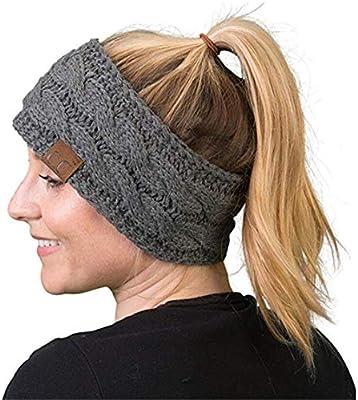 Amazon.com  Heyuni.1PC Knit Headbands Winter Braided Headband Ear Warmer  Crochet Head Wraps for Women Girls 582cf374392