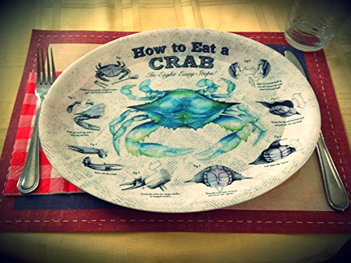 Four How to Eat Crab Plastic Plates with Eight Easy Steps Diagram