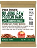 Papa Steve's No Junk Raw Protein Bars, Apple Cinnamon Pecan, 2.5 Oz, 10 Count