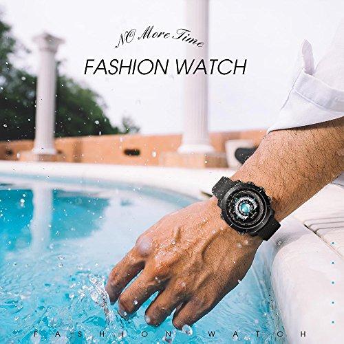Reloj inteligente Bluetooth con frecuencia cardíaca, cámara remota, resistente al agua, monitor de sueño, pantalla colorida y pantalla de doble cara, ...