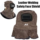 AP-3001 Leather Welding Helmet Weld Lens Safety Face Shield with Auto Dark Filter