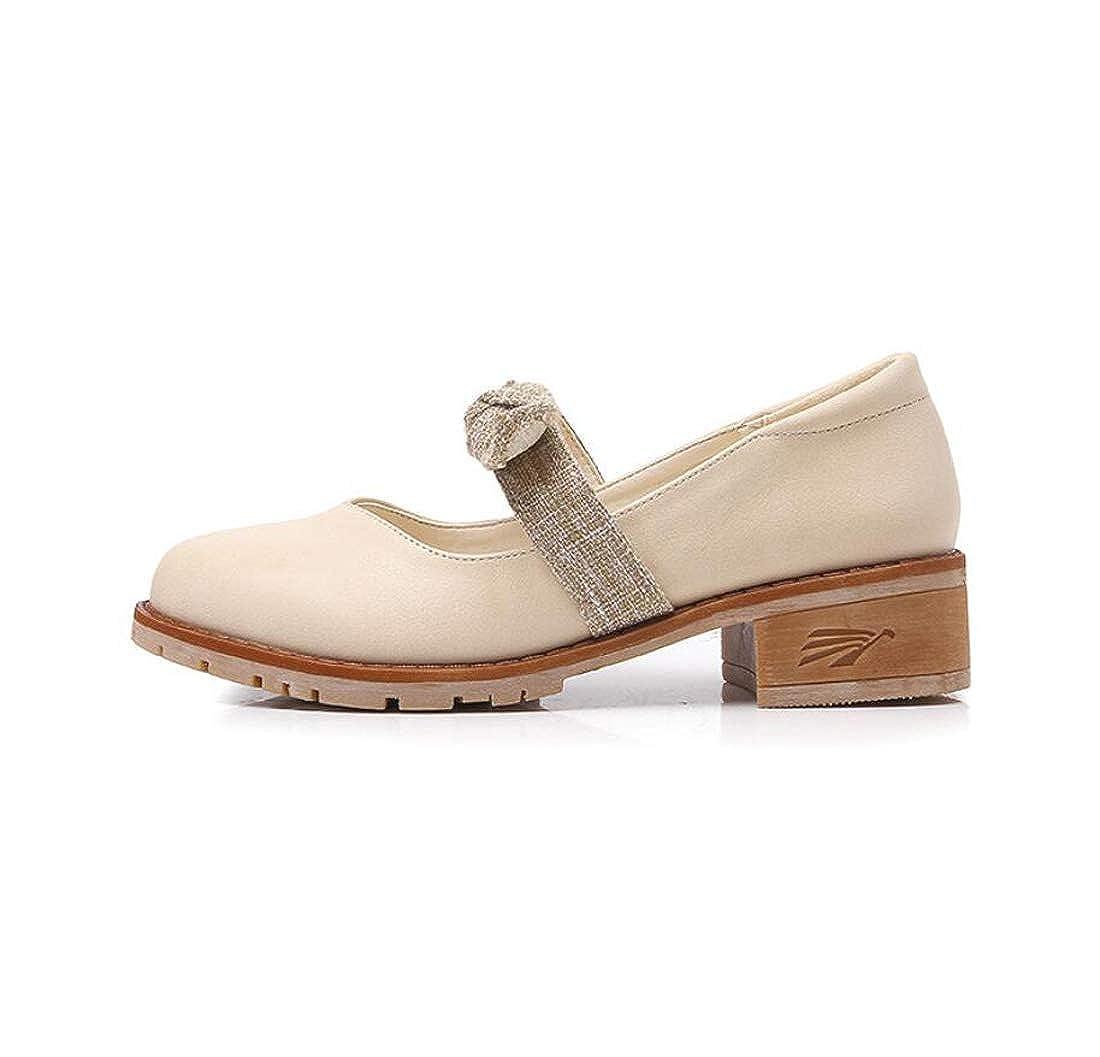DANDANJIE Womens Mocassini College Style Scarpe Bow Shoes Semplici Scarpe Style di Grandi Dimensioni Albicocca 038a12