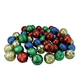 Northlight 150ct Shiny Red, Blue, Green and Gold Shatterproof Mercury Ball Christmas Ornaments 3.25'' (80mm)