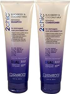 2chic Blackberry & Coconut Milk Repairing Hair Bundle: Shampoo and Conditioner 8.5 fl oz set