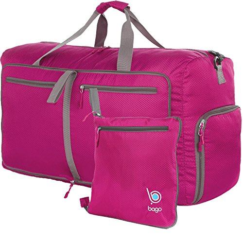 bago-Travel-Duffle-Bag-For-Women-Men-Foldable-Duffel-Bags-For-Luggage-Gym-Sports-Large-27Pink