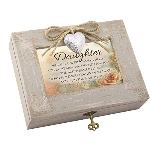 Cottage Garden Daughter Best Things In Life Taupe Wood Locket Music Box Plays You Are My Sunshine ()