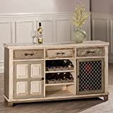 Best Hillsdale Furniture Wine Cabinets - 2-Door Console Table with Wine Rack Review